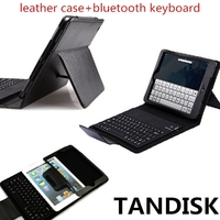Leather case for IPAD MINI bluetooth keyboard for IPAD MINI
