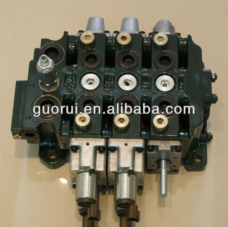 80l min hydraulic valve for jcb loadall hydraulic spool for Hydraulic motor spool valve