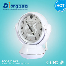 Desk clock hidden wifi ip camera Pan 360 Degree with120 view angle and TF card