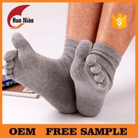 Comfort Men Five Toe Socks/Full Toe with Grip Bella Toe Socks Cotton Pilates Yoga Sock