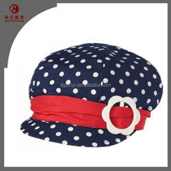 summer fashion small dot deep blue kids hat