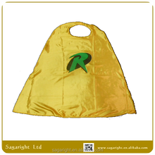 Robin Yellow Satin Cape for Party Costume