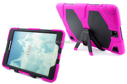 Rugged hybrid silicone tablet case for Samsung Galaxy Tab A 9.7 inch T550 smart robot back cover