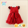 Christmas red girl party dress wholesale price baby new style beaded new girls frocks design