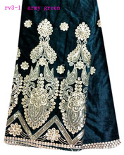 very popular for ladies velvet lace fabric/nice sleeve velvet ss with lace for wedding/ velvet lace fabric