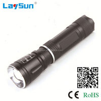 Laysun Aluminum Alloy zoom waterproof led torch light manufacturers pass CE ROHS REACH