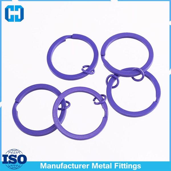 purple split key ring