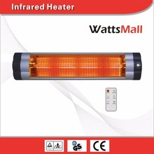 Wall Mounted Carbon & Quartz Infra-red Heater with Tip-over Switch