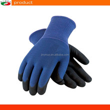 China Scrub Nitrile Palm Coated Gloves Safety Working Gloves Mechanic Gloves