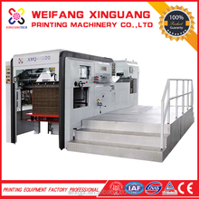 XMQ-1100 Fully Automatic Creasing Display box Die cutting Machine with Stripping
