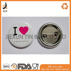 Good quality cheap custom metal tourism small iron material memorized badges iron badge set tin tourism badge tin magnet fridge