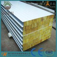 long span low price house building materials rock wool sandwich panel for ceiling and roof and wall
