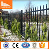 1200h x 2400w Galvanized Pool Fence Panels Spear Top in cream and black