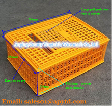 Live chicken cage to transport/plastic poultry transport cage for sale