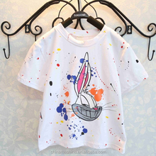 MS64117C summer cute bunny printing girls child t-shirt design