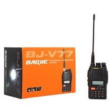 VHF/UHF FM Transceiver two way radio BJ-V77 with digital FM radio walking talking long range