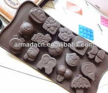 New Design cartoon and insert silicone bakeware chocolate mold