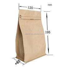 Puede volver a sellar de semillas de papel kraft bolsa con cremallera