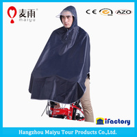 Maiyu 028 unisex color oxford waterproof foldable poncho raincoat for bike