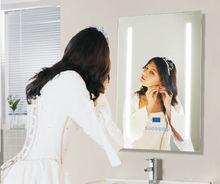 Bathroom FM Stereo Waterproof Digital Clock Bluetooth Heated Alarm Sensor LED mirror
