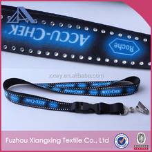 Fashion Bling Custom Logo Rhinestone Lanyard