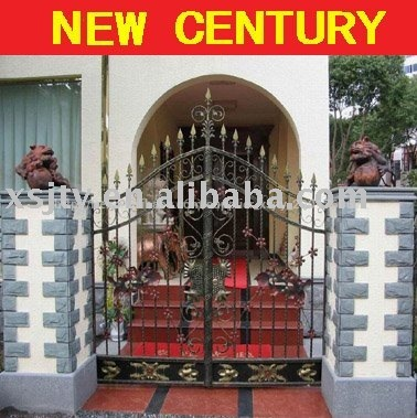 Aluminium porte grille en fer forg mod les en fer forg porte principale villa design pour la for Porte villa en fer