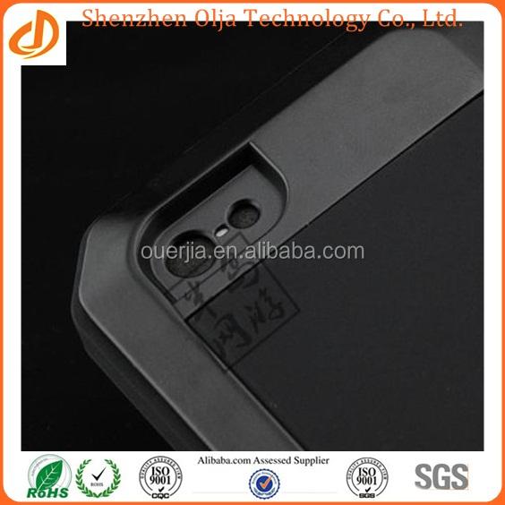 Metal Aluminum Shockproof Gorilla Glass waterproof case for iphone 5