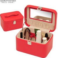 new arrival pu leather rolling small makeup train case