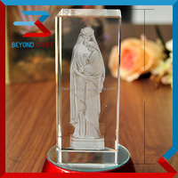 3D crystal virgin mary image statues Christian gifts