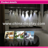 White colour acrylic frame tabletop laser LED lighted table use plastic menu board