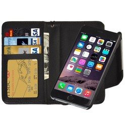 2 in 1 Separable Wallet Style PU Leather Case for iPhone 6