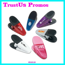 Promotional Plastic Magnetic Alligator Clips / promotional paper clip / magnet memo clip