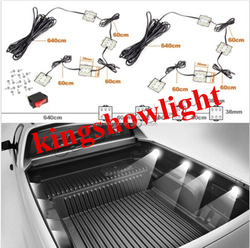 8pc LEDGLOW TRUCK BED WHITE LED LIGHTING LIGHT KIT for CHEVY DODGE FORD TRUCKS