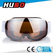 Newest design custom strap magnet lens goggles skiing eye wear