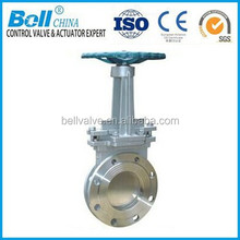 double flanged knife gate valve stainless steel