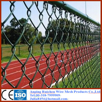High quality low price used chain link fence panels for sale