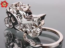 Cool Metal Motorcycle Key Ring Chain Motor Silver Keychain New Fashion Cute Lover Gift Custom Keychain/Key ring