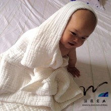 2015 of the most popular cotton gauze bath towel, baby class A products direct contact with the skin, white multilayer gauze can