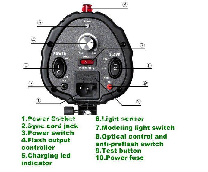 godox 250DI flash light 6