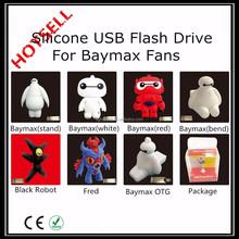 PVC Cartoon Figure USB Flash Drive USB2.0 1MB-256GB for Baymax fans
