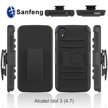 Super mobile protect phone case for Alcatel Idol 3 kickstand mobilephone cover shell
