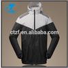 2015 New Arrival Waterproof Cheap Hooded unisex plain windbreaker jacket