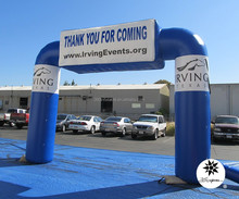 Custom 20ft Advertising inflatable PVC billboard arch