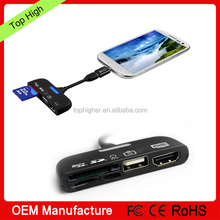 MHL to HDMI+ OTG Card Reader Adapter For Smart phone & Tab