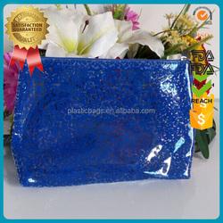 Wholesale custom printing bulk canvas clear designer pvc cosmetic packing bags small mini transparent plastic makeup zipper case