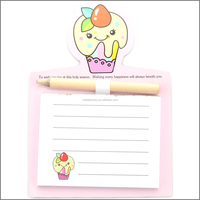 cartoon style magnetic notepads fridge magnet memo pad with pen