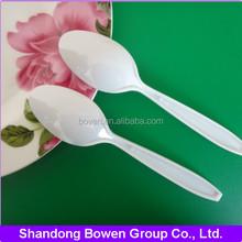 disposable polypropylene or polystyrene plastic tableware tea spoon