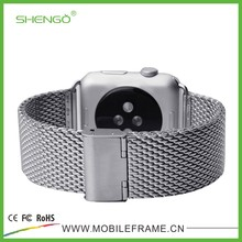 Factory Price Stainless Steel Metal Strap Watch Band for Apple Watch With Band Adapter