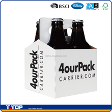 FSC Dongguan Factory Custom Made 4 Pack Beer Carrier