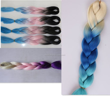 Synthetic hair extensions ombre kanekalon braiding hair super Xpression kanekalon braiding hair